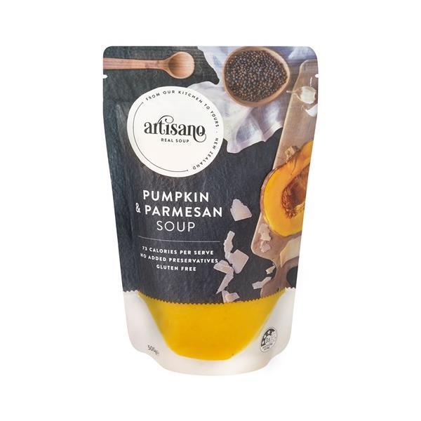 Artisano Fresh Soup Pumpkin Parmesan pouch 500g