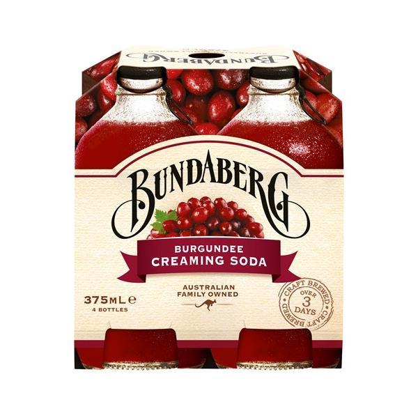 Bundaberg Burgundee Creaming Soda 1500ml (375ml x 4pk)