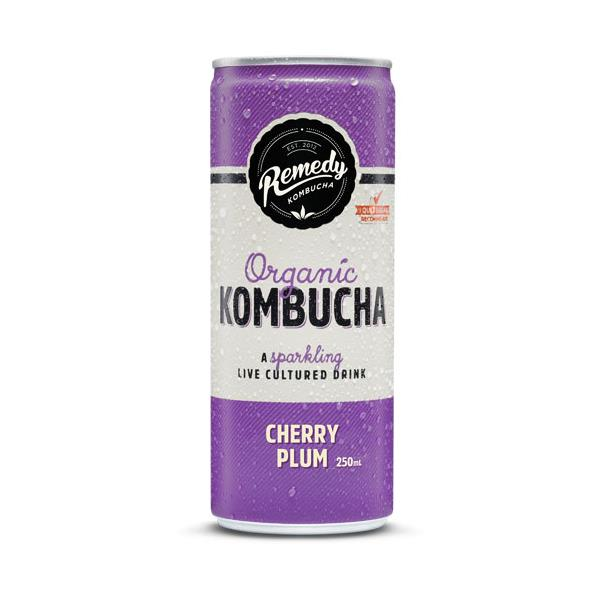 Remedy Organic Kombucha Cherry Plum 250ml
