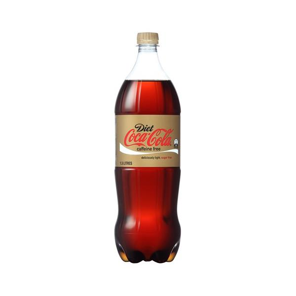 Coca Cola Soft Drink Caffeinne Free Diet Coke 1.5l