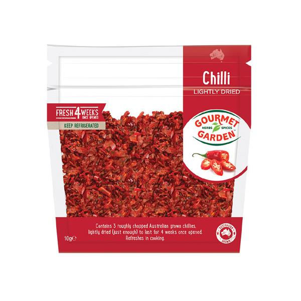 Gourmet Garden Chilli Lightly Dried packet 10g