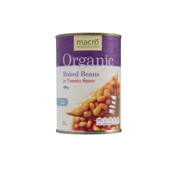 Macro Organic Baked Beans In Tomato Sauce 420g