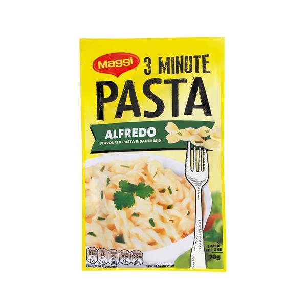 Maggi 3 Minute Pasta Pasta Dish Alfredo sachet 70g