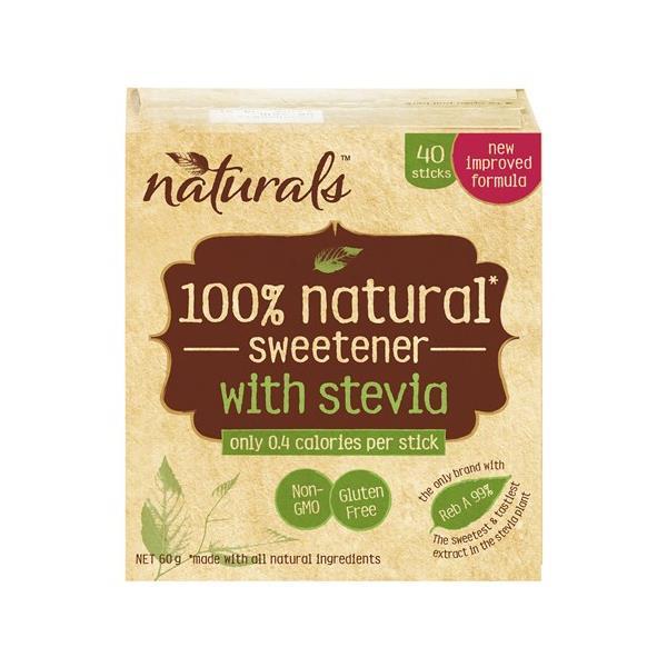 Naturals Sugar Substitute Stevia Sticks 60g