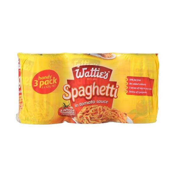 Wattie's Spaghetti 1260g (420g x 3pk)