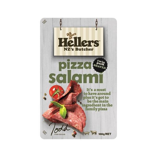 Hellers Salami Sliced Pizza prepacked 100g