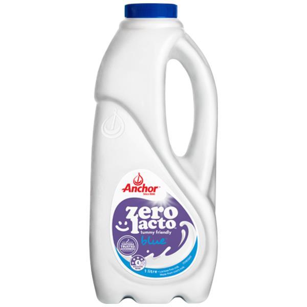 Anchor Zero Lacto Milk Standard Lactose Free Blue 1l
