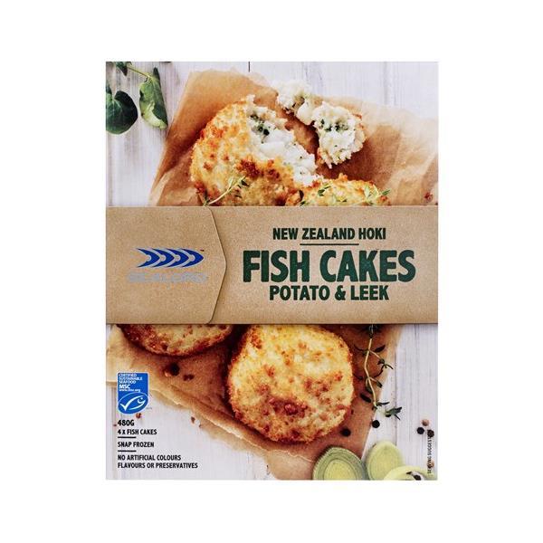 Sealord Cafe Style Fish Cakes Leek & Potato 480g