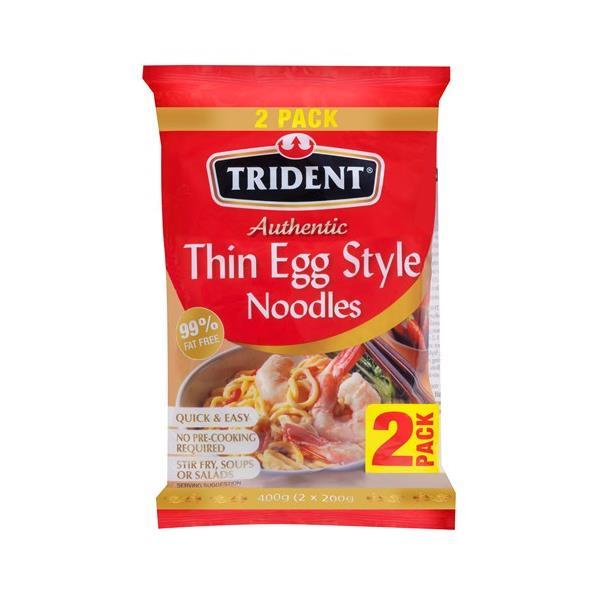 Trident Egg Noodles Thin 400g (200g x 2pk)