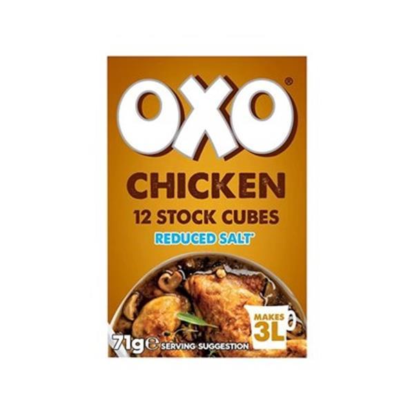 Oxo Salt Reduced Chicken Stock Cubes 71g