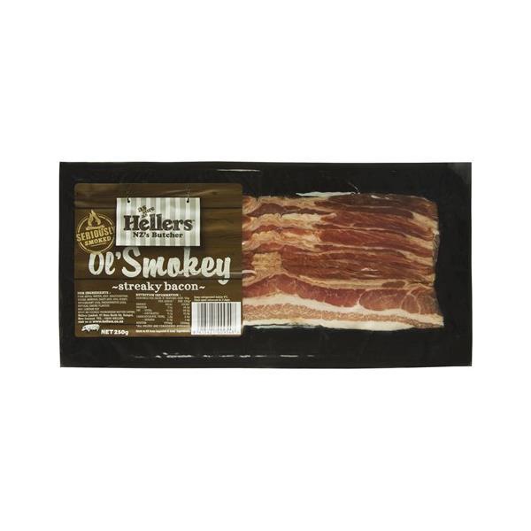 Hellers Ol Smokey Streaky Bacon 250g