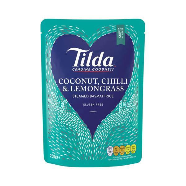 Tilda Steamed Rice Basmati Cocnut Chilli Lmngrass 250g