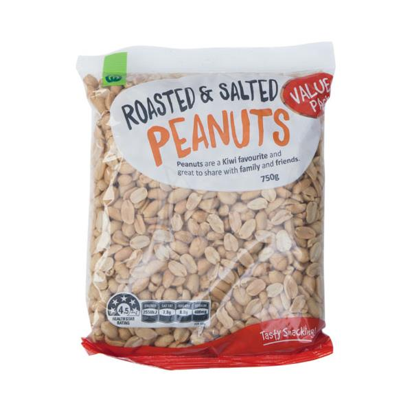 Countdown Peanuts Roasted Salted 750g