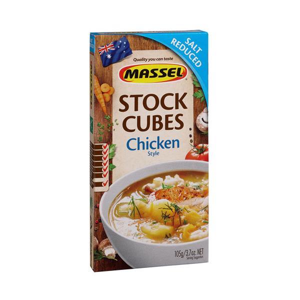 Massel Ultra Stock Chicken Cubes Salt Reduced 105g