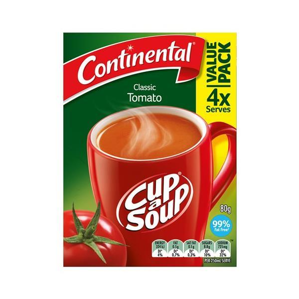 Continental Cup A Soup Instant Soup Tomato 80g 4 serve