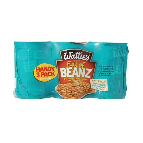 Wattie's Baked Beans 1260g (420g x 3pk)