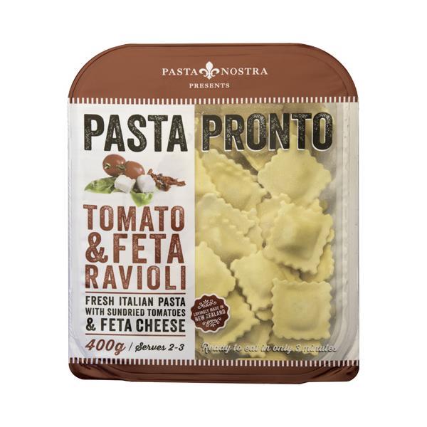 Pasta Nostra Pronto Fresh Filled Pasta Feta & Tomato Raviolli 400g