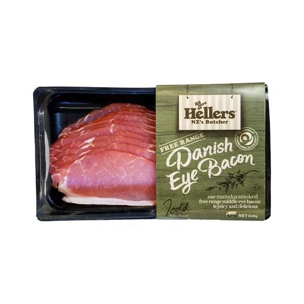 Hellers Eye Bacon Danish Free Range 250g