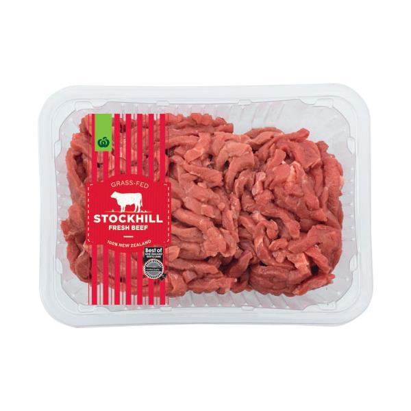 Countdown Beef Stir Fry Premium Medium Pk min order 500g per 1kg
