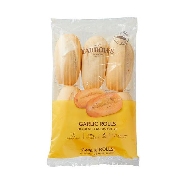 Yarrows Buffet Rolls Garlic Butter Filled 6pk