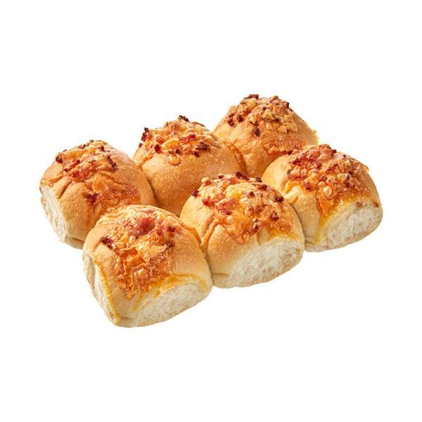 Countdown Instore Bakery Bread Rolls Crusty Cheese & Bacon 6pk