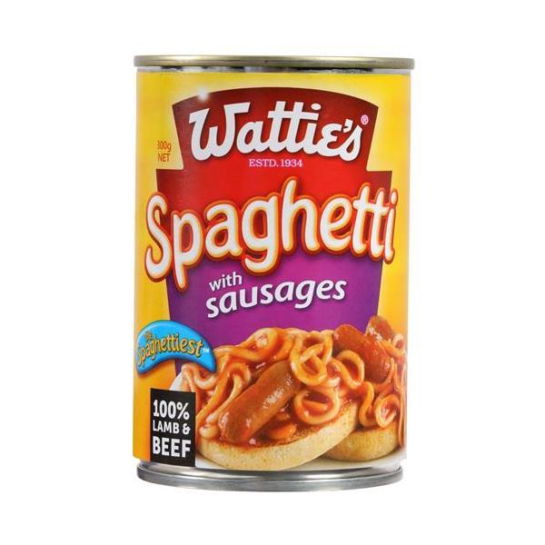 Wattie's Spaghetti & Sausages 300g