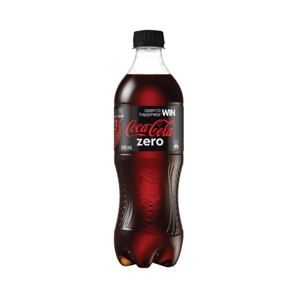 Coca Cola Zero Soft Drink 600ml