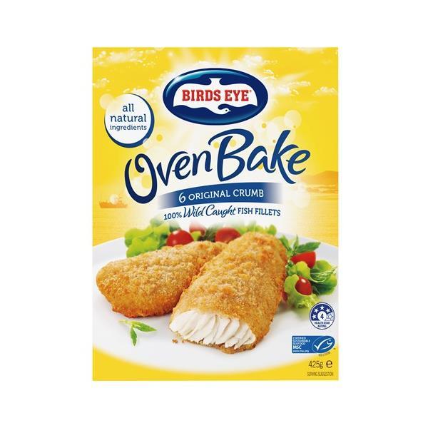 Birds Eye Oven Bake Fish Fillets Original Crumb 425g 6pk