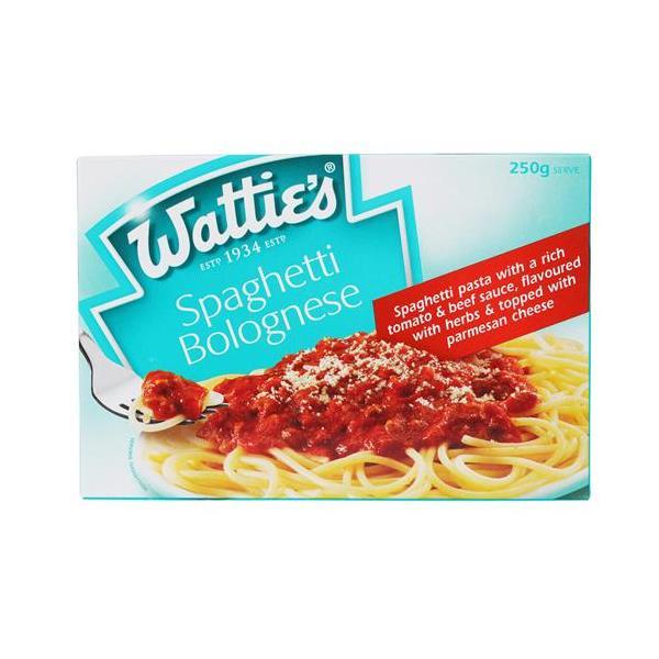 Wattie's Snack Frozen Meal Spaghetti Bolognese 250g