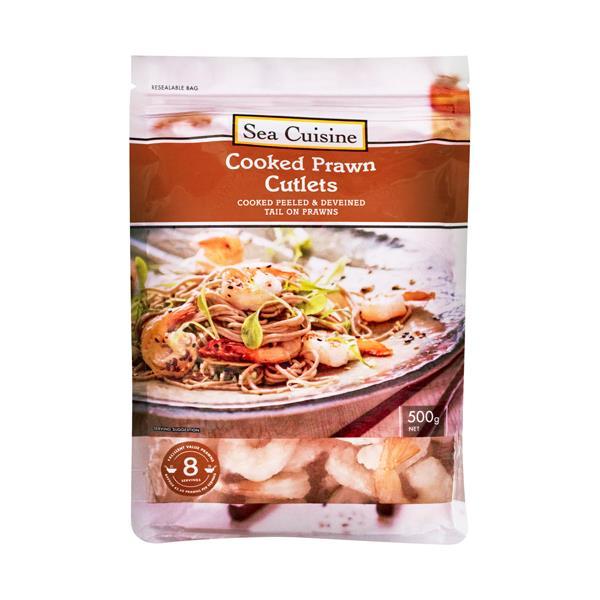 Sea Cuisine Prawns Cooked Cutlets frozen 500g