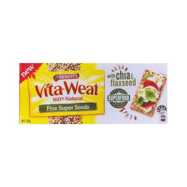 Arnott's Vita Weat Super Foods Crispbread 5 Super Seeds 250g