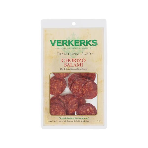 Verkerks Salami Sliced Chorizo 75g