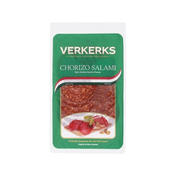 Verkerks Salami Sliced Chorizo 100g