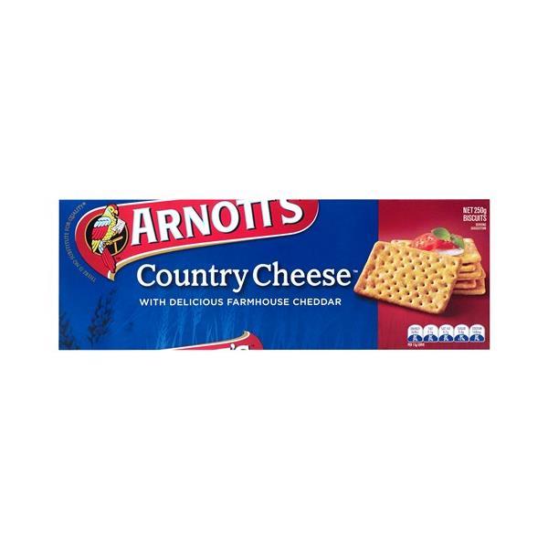 Arnott's Crackers Country Cheese 250g