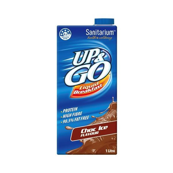 Sanitarium Up & Go Breakfast Drink Choc Ice carton 1l