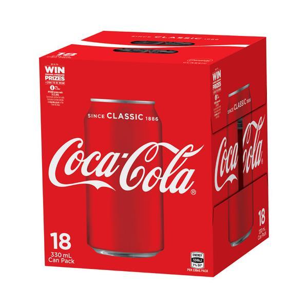 Coca Cola Soft Drink 5940ml (330ml x 18pk)