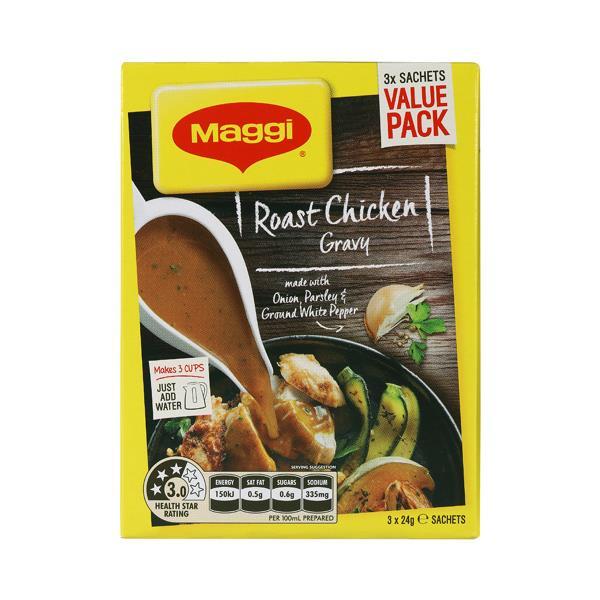 Maggi Instant Gravy Mix Roast Chicken 72g (24g x 3pk)