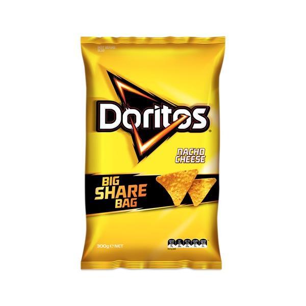 Doritos Corn Chips Nacho Cheese Party Bag 300g
