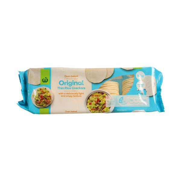 Countdown Rice Crackers Plain Thin 100g