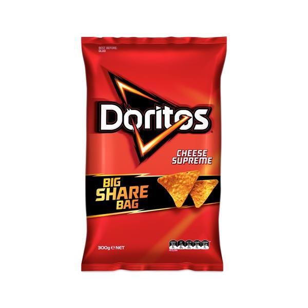 Doritos Corn Chips Supreme Cheese Party Bag 300g