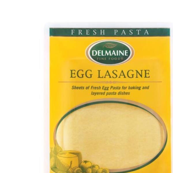 Delmaine Fresh Flat Pasta Egg Lasagne pkt 400g