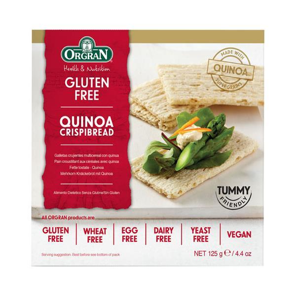 Orgran Crispibread Crispbread Quinoa 125g