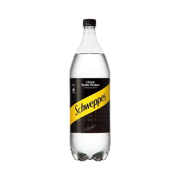 Schweppes Drink Mixers Soda Water 1.5l