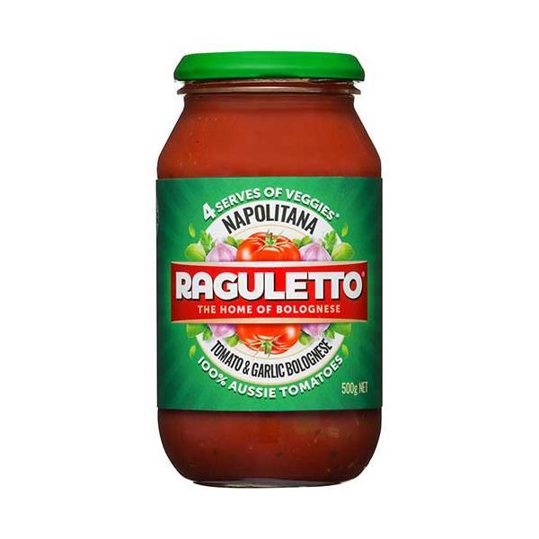 Raguletto Pasta Sauce Napolitana jar 500g