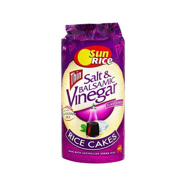 SunRice Thin Rice Cakes Sea Salt & Balsamic Vinegar 195g