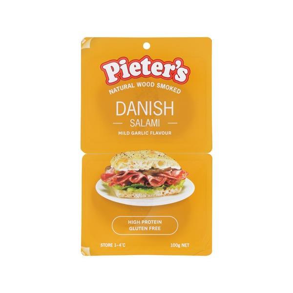 Pieters Salami Sliced Danish 100g