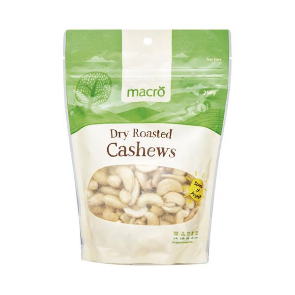 Macro Cashews Dry Roasted 250g