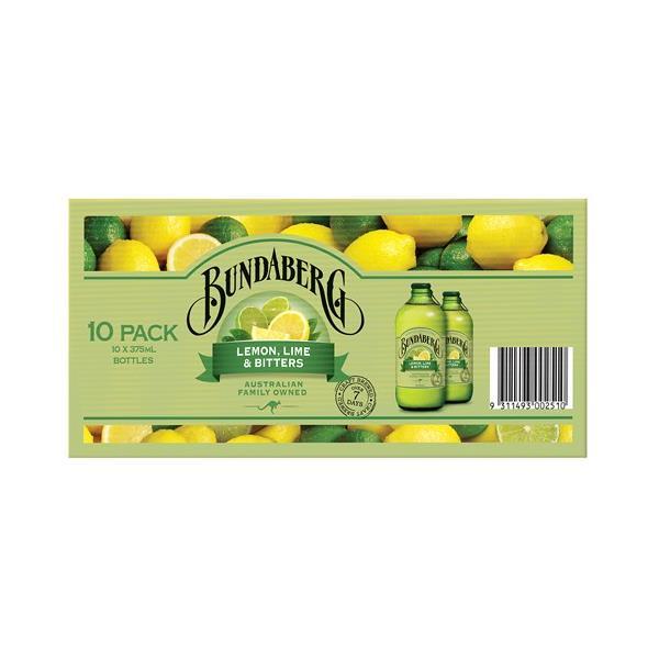Bundaberg Lemon Lime & Bitters 3750ml (375ml x 10pk)