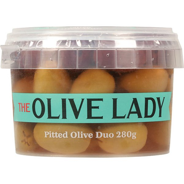 The Olive Lady Olives Pitted Due 280g