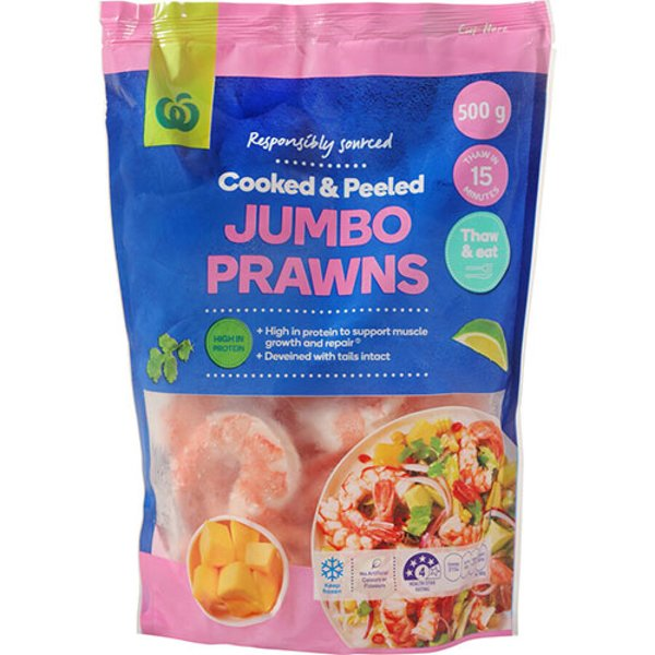 Countdown Prawns Jumbo Cooked 500g